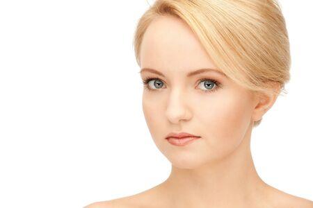 bright closeup portrait picture of beautiful woman Stock Photo - 9046005