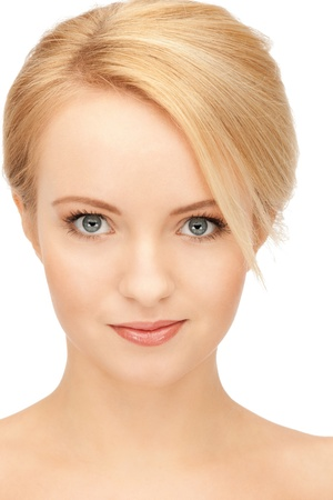 bright closeup portrait picture of beautiful woman Stock Photo - 9047908