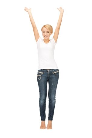 bright picture of happy and carefree teenage girl Stock Photo - 9045983