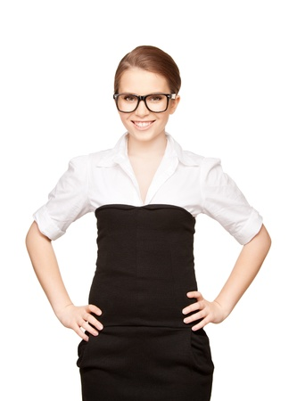 bright picture of happy and smiling woman Stock Photo - 9059254