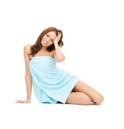 bright picture of beautiful woman in towel Stock Photo - 9160945