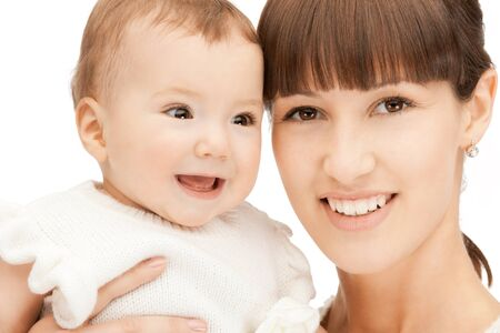 picture of happy mother with adorable baby Stock Photo - 9161001
