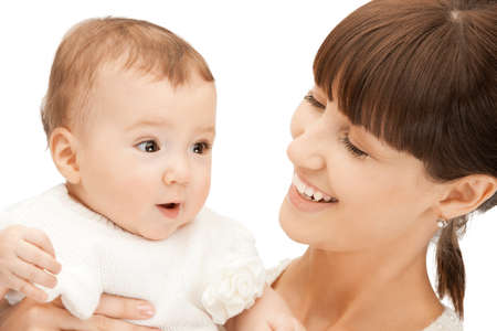 picture of happy mother with adorable baby (focus on child) Stock Photo - 9162706