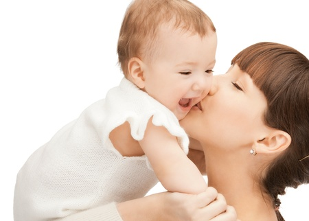 picture of happy mother with adorable baby (focus on woman) Stock Photo - 9161089