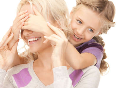 bright picture of happy mother and little girl Stock Photo - 9193062