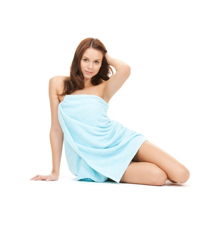 bright picture of beautiful woman in towel Stock Photo - 9193019