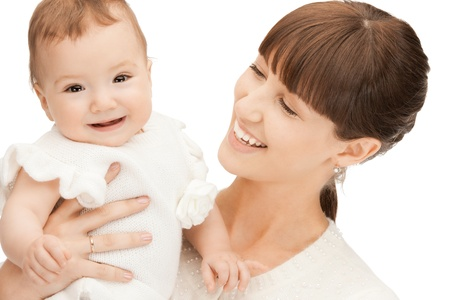 picture of happy mother with adorable baby Stock Photo - 9193329