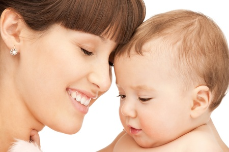 picture of happy mother with adorable baby (focus on woman) Stock Photo - 9193324