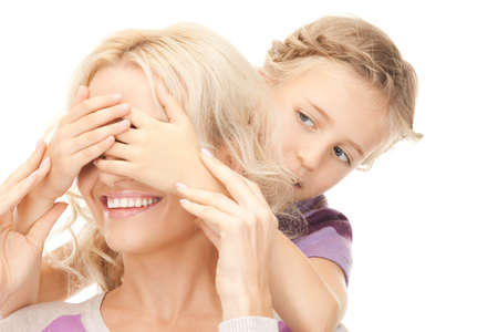 bright picture of happy mother and little girl Stock Photo - 9193316
