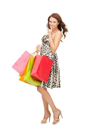 woman shopping: picture of lovely woman with shopping bags