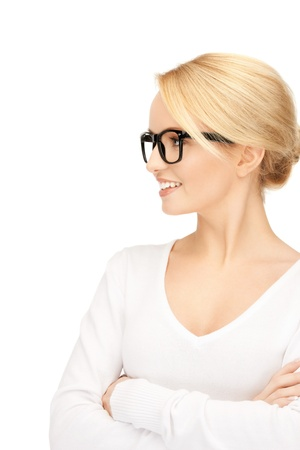 bright picture of calm and friendly woman photo