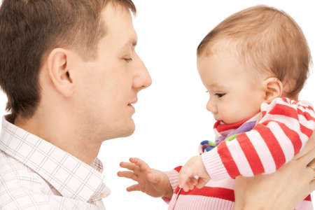 picture of happy father with adorable baby Stock Photo - 9318829
