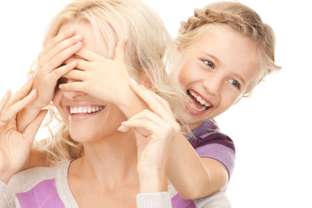 bright picture of happy mother and little girl. Stock Photo - 9318937