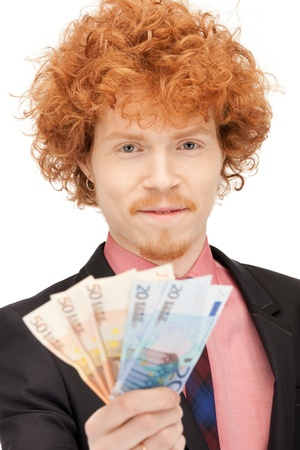 picture of handsome man with euro cash money Stock Photo - 9318992