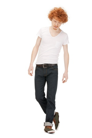 bright picture of handsome man in  white shirt photo