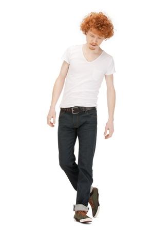 imagen brillante de guapo en camisa blanca Foto de archivo - 9318805
