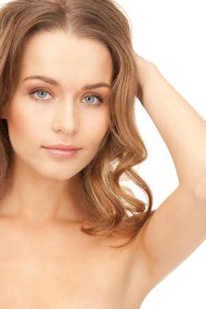 alluring women: bright closeup portrait picture of beautiful woman