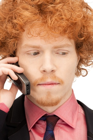 picture of handsome man with cell phone Stock Photo - 9319604