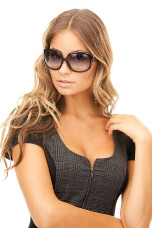 bright picture of lovely woman in shades photo