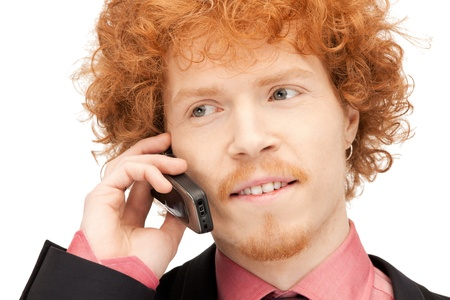 imagen de un hombre guapo con tel�fono celular Foto de archivo - 9362140