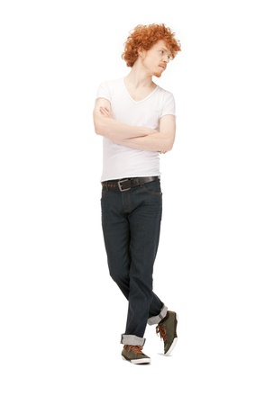 bright picture of handsome man in  white shirt Stock Photo - 9361928