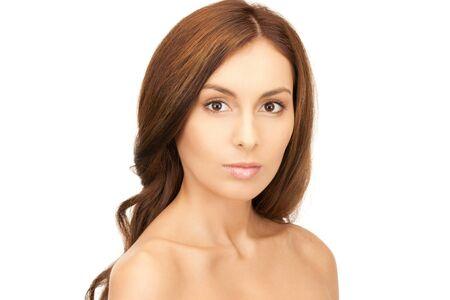 bright closeup portrait picture of beautiful woman Stock Photo - 9416662