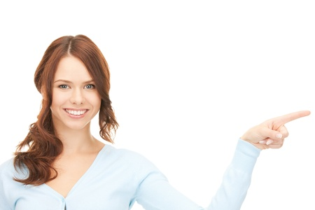 picture of attractive businesswoman pointing her finger Stock Photo - 9463069