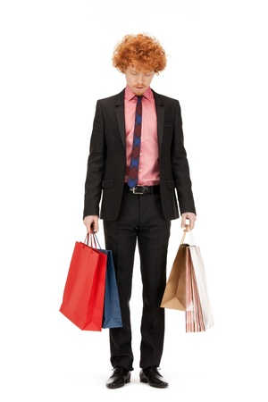picture of handsome man with shopping bags Stock Photo - 9519487