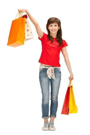 picture of teenage girl with shopping bags Stock Photo - 9604688