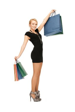 picture of lovely woman with shopping bags Stock Photo - 9709692