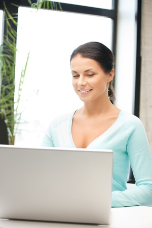 picture of happy woman with laptop computer Stock Photo - 9846959