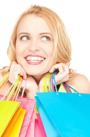 picture of lovely woman with shopping bags Stock Photo - 9846766