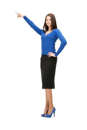 apontador: imagem de mulher de neg Banco de Imagens