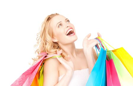 picture of lovely woman with shopping bags Stock Photo - 9948633