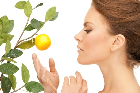 picture of lovely woman with lemon twig Stock Photo - 10033645