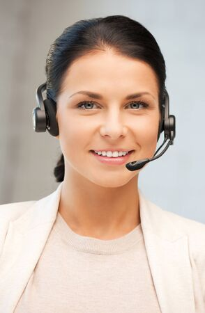 bright picture of friendly female helpline operator Stock Photo - 10061169