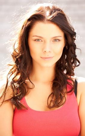 bright closeup portrait picture of beautiful woman Stock Photo - 10367222