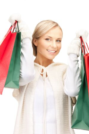 picture of lovely woman with shopping bags Stock Photo - 10465462