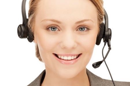 bright picture of friendly female helpline operator Stock Photo - 10465429