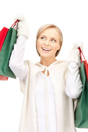 picture of lovely woman with shopping bags Stock Photo - 10465434
