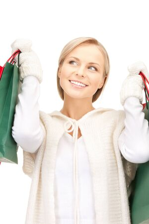 picture of lovely woman with shopping bags Stock Photo - 10465420