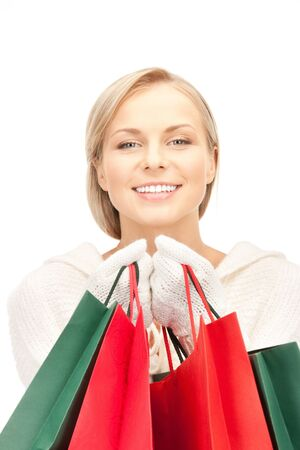 picture of lovely woman with shopping bags Stock Photo - 10498329