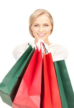 picture of lovely woman with shopping bags Stock Photo - 10498438