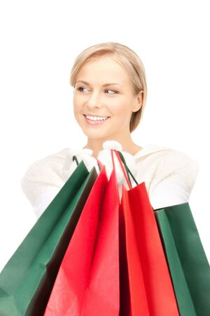 picture of lovely woman with shopping bags Stock Photo - 10529763
