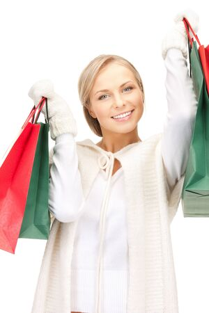picture of lovely woman with shopping bags Stock Photo - 10550077