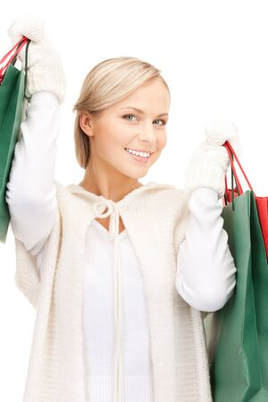 picture of lovely woman with shopping bags Stock Photo - 10566372