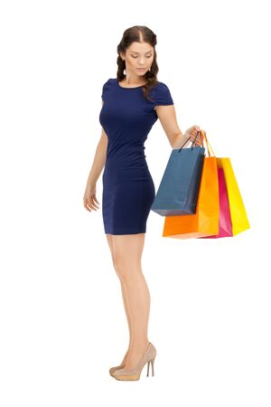 picture of lovely woman with shopping bags Stock Photo - 10597161