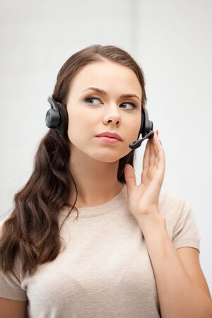 bright picture of friendly female helpline operator Stock Photo - 10670004