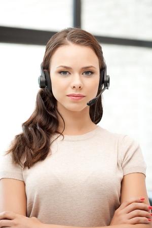 helles Bild der freundlichen weiblichen Helpline Betreiber