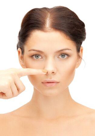 nasen: closeup Portr�t Bild der sch�nen Frau